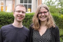 Leopold Neumann und Kyra Riederer